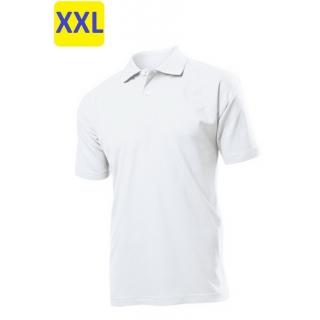Polo мужское ST3000 с коротким рукавом 170 g/m?, белый