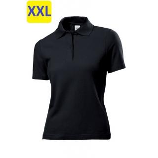 Polo женское ST3100 с коротким рукавом 170 g/m?, черный