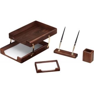 настольный набор деревяный с 4 предметов O36427