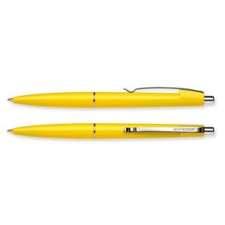 Ручка шариковая Office корпус желтый, пишет синим