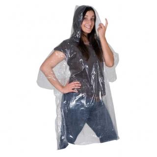 Прозрачный дождевой плащ