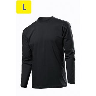 Футболка мужская ST2500, 155 g/m?, длинный рукав, черный