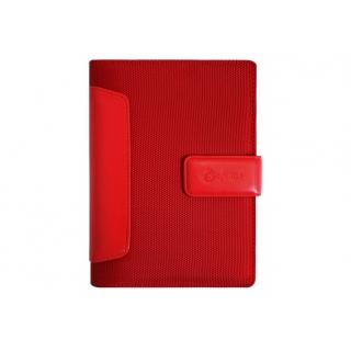 Бизнес-организатор со вставками из искусственной кожи, 135 *185 мм, на кольцах, красный, бумага 80 г