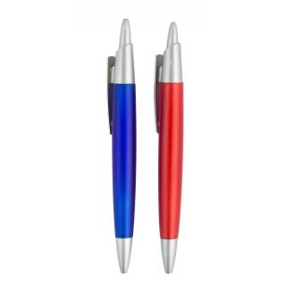 Пластиковая ручка с серебряными вставками