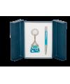 """Набор подарочный """"Purse"""": ручка шариковая + брелок, синий"""