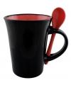 Чашка керамическая с ложкой DORIS Optima promo 300мл