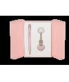 """Набор подарочный """"Corona"""": ручка шариковая + брелок, розовый"""