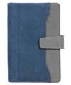 Бизнес-организатор, магнитная застежка, искуственная кожа, на кольцах, комбинированая обложка, 190х130 мм