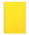 Блокнот А6, 80 л., Пластиковая обложка, боковая спираль